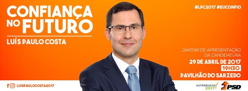 Jantar de apresentação da candidatura de Luís Paulo Costa  à Câmara Municipal de Arganil