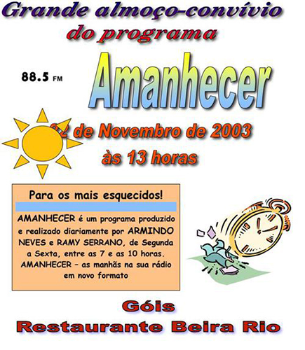 Convivio Amanhecer 2003