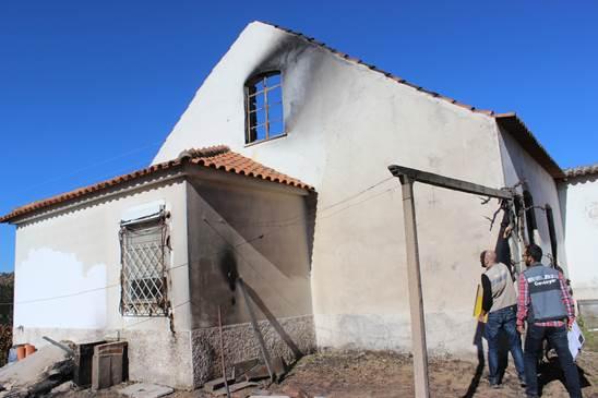 Prejuízos provocados pelos incêndios nas habitações no concelho de Arganil